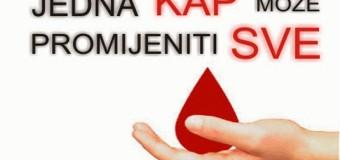 U četvrtak nova akcija dobrovoljnog darivanja krvi