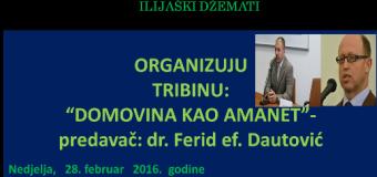 """Tribina """"Domovina kao amanet"""" u nedjelju u Ilijašu"""