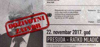 Dobio doživotni zatvor: Ratku Mladiću nije dokazan genocid u šest općina, kriv za genocid u Srebrenici