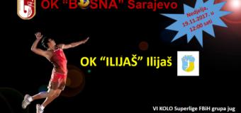 U nedjelju OK Ilijaš igra derbi kola polusezone Superlige FBiH