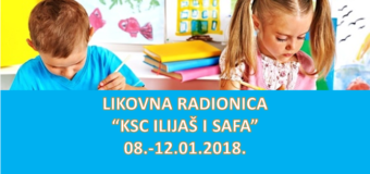 Tradicionalna Likovna radionica za zimski raspust sa KSC Ilijaš i Safom