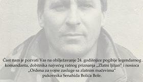 Obilježavanje 24. godišnjice od smrti Senahida Bolića Bole