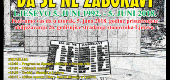 Program obilježavanja godišnjice stradanja stanovnika Lješeva