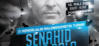 """Najava IX Memorijalnog malonogometnog  turnira """"SENAHID BOLIĆ BOLO"""""""