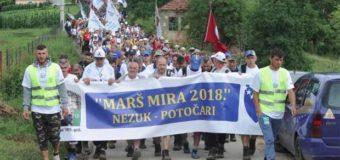 "Krenuo ""Marš mira 2018"" od Nezuka do Potočara"
