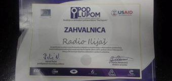 Zahvalnica za Radio Ilijaš
